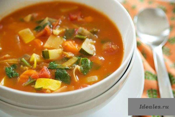 Рецепт диетический овощной суп