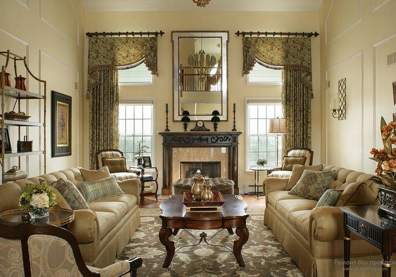 Викторианский стиль в дизайне интерьера | Современные идеи ... Камин - обязательный атрибут стиля