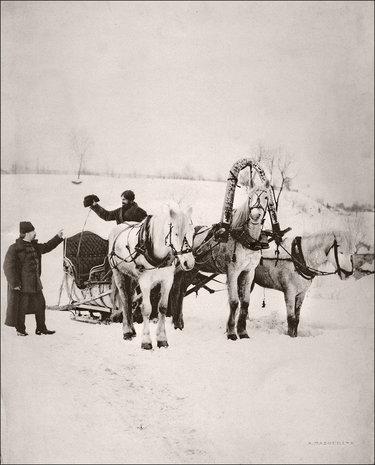 русская тройка фото старинное