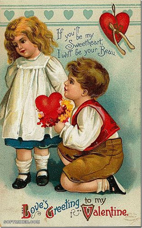 Поздравить, открытки про любовь старинные