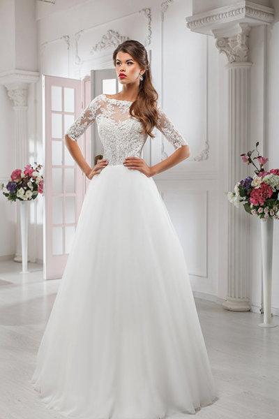 Красивые закрытые свадебные платья