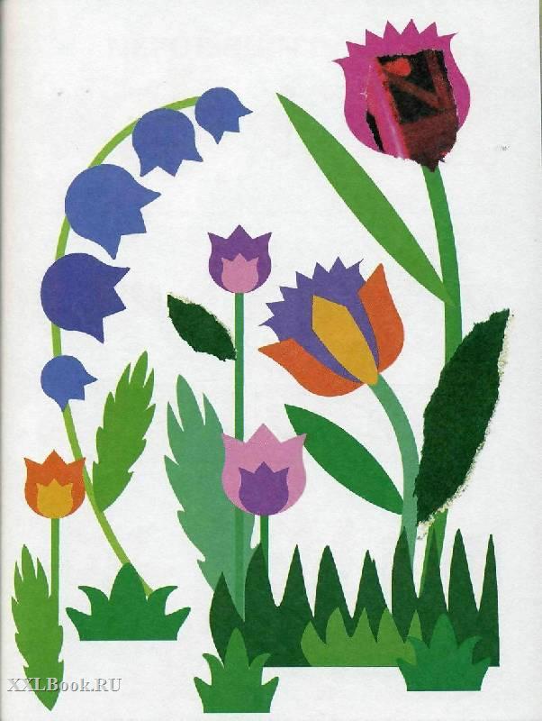 Картинки аппликация цветы из цветной бумаги, картинках иван