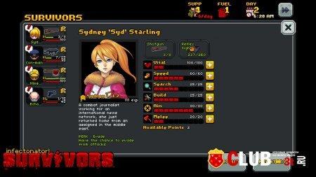 Infectonator Survivors Trainer version 1.02 + 2