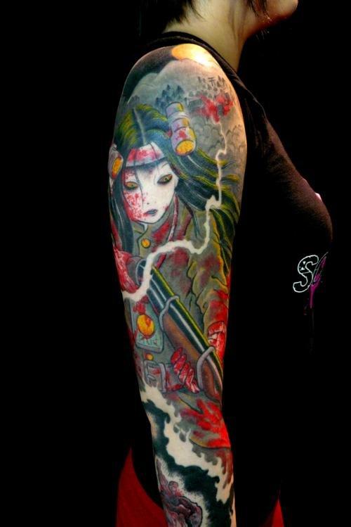 Татуировка в японском стиле  С каждым днём татуировка в японском стиле становится