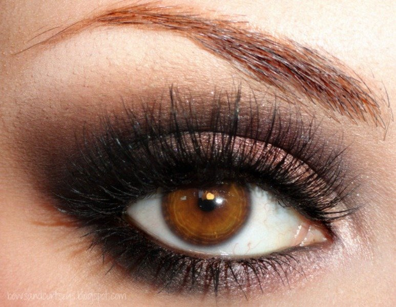 eye color and chocolaty brown ones