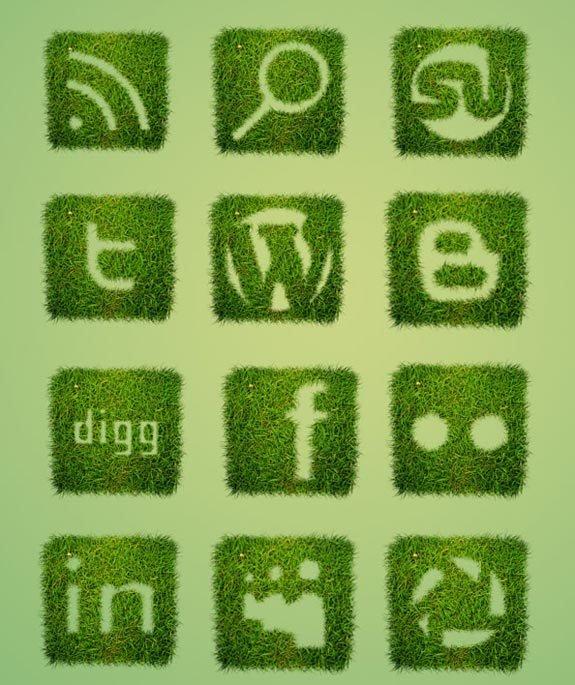30 вариантов необычных иконок социальных сетей