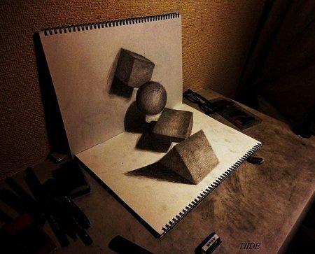 3D Рисунки на бумаге. Как это сделано!