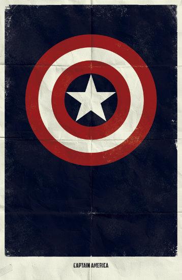 Captain America. Минималистичный постер