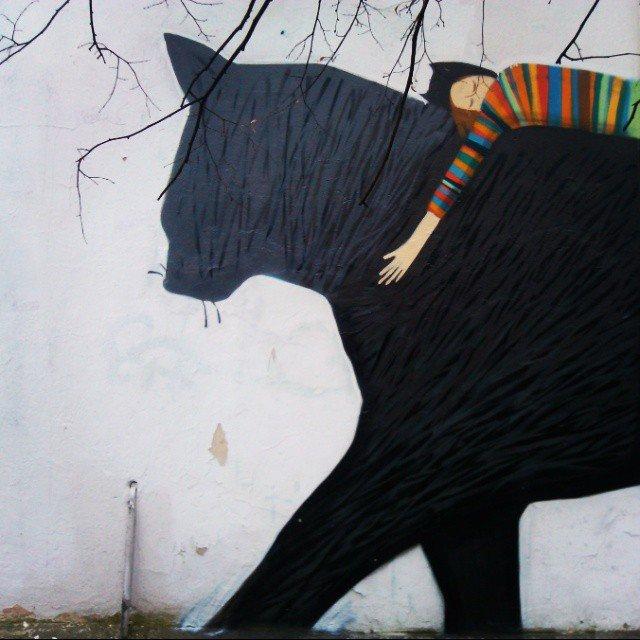 """Граффити и стри-арт: как найти всех """"Мартовских котов"""": budgawl"""