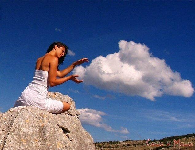 идеи для свадебной фотосессии с облаками