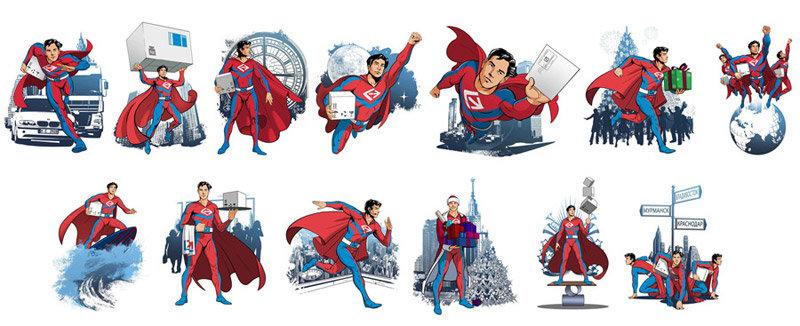 Иллюстрация персонажа Человек-Посылка