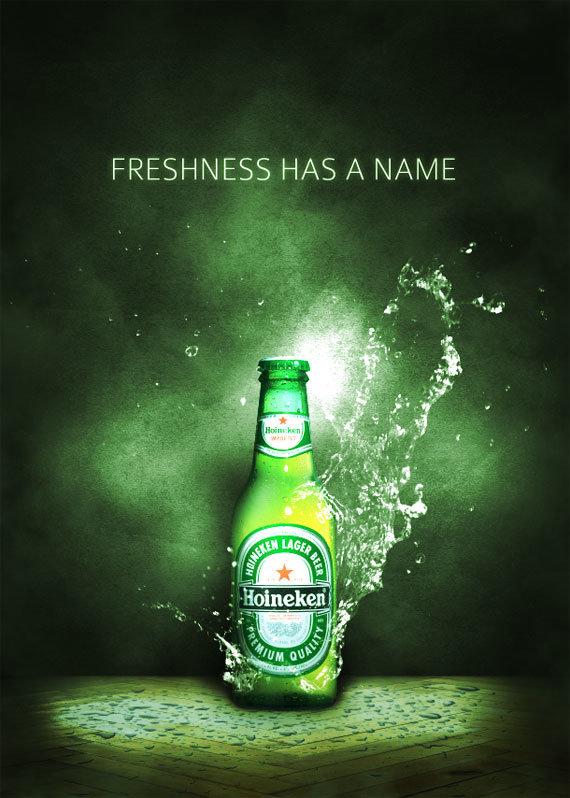 Как нарисовать эффектный рекламный постер для освежающего напитка. 30 шагов
