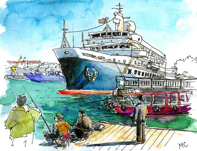 Кораблики из Южной бухты и Графской | Блог художника