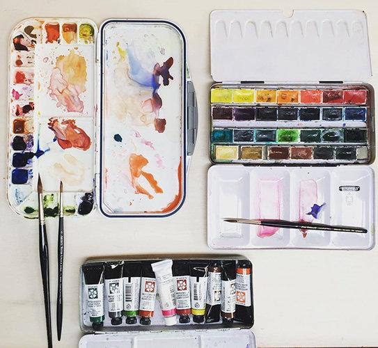 Лучшие акварельные краски   Школа рисования для взрослых Вероники Калачёвой — Kalachevaschool   Обучение вживую в Москве и онлайн по всему миру