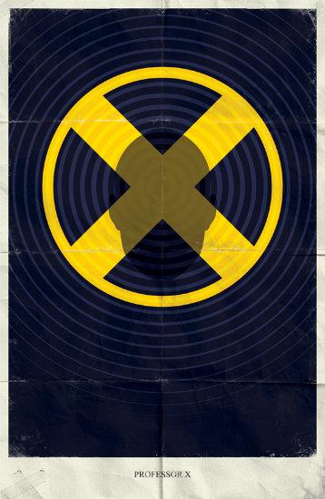 Professor X. Минималистичный постер