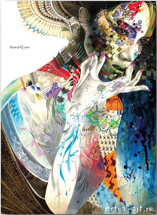 Рисунки от Минджае Ли