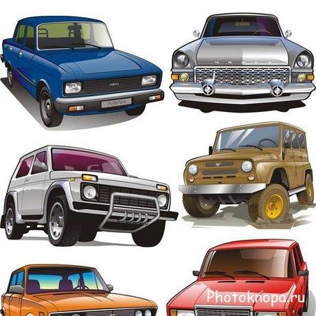 Русские и советские модели автомобилей в векторе
