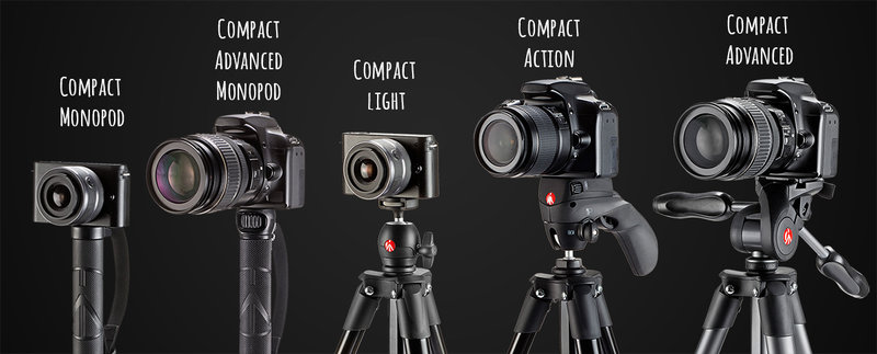 Шпаргалка для выбора недорогого штатива Manfrotto