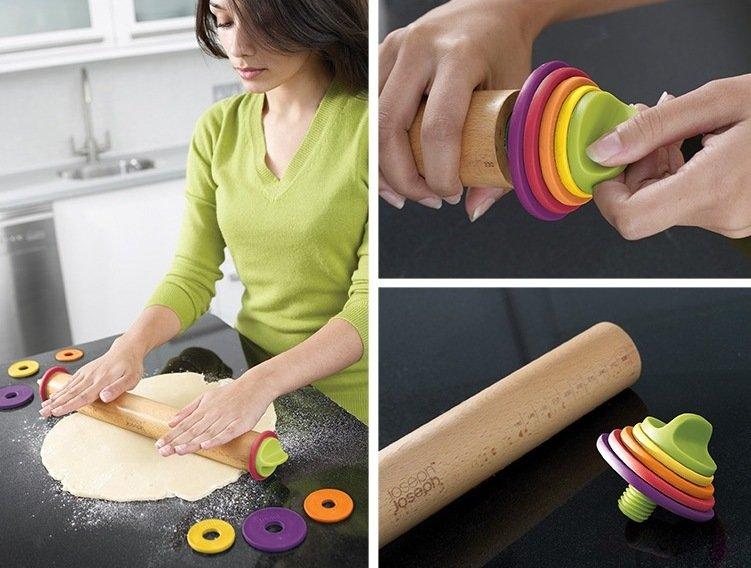 Скалка со съемными дисками – очень эргономичное решение для любой кухни
