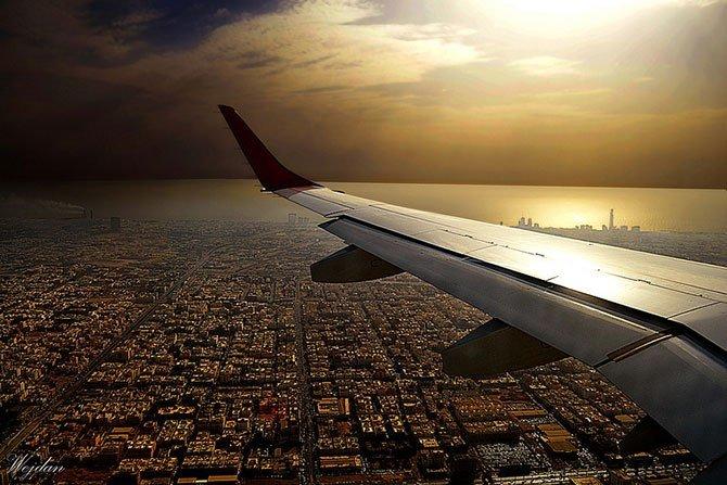 Вид с окна самолета. Серия фото.7