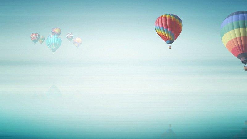 Воздушные шары в небе обои, картинки, фото