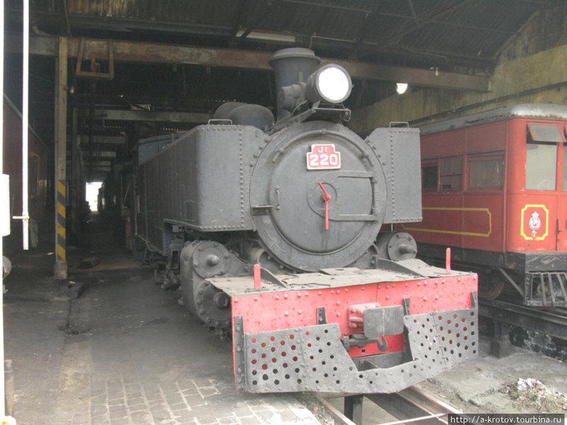Железнодорожное депо с паровозами-раритетами Коломбо, Шри-Ланка