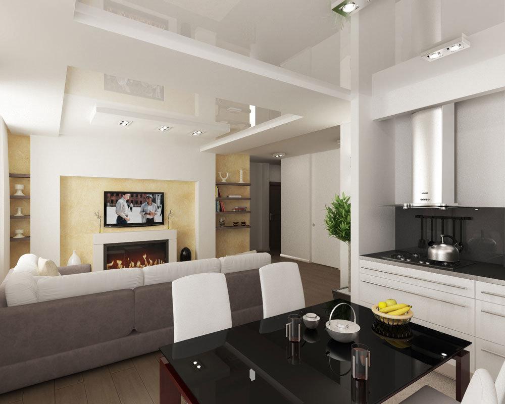 Дизайн кухни-гостинной с балконом дизайн кухни - фото, описа.