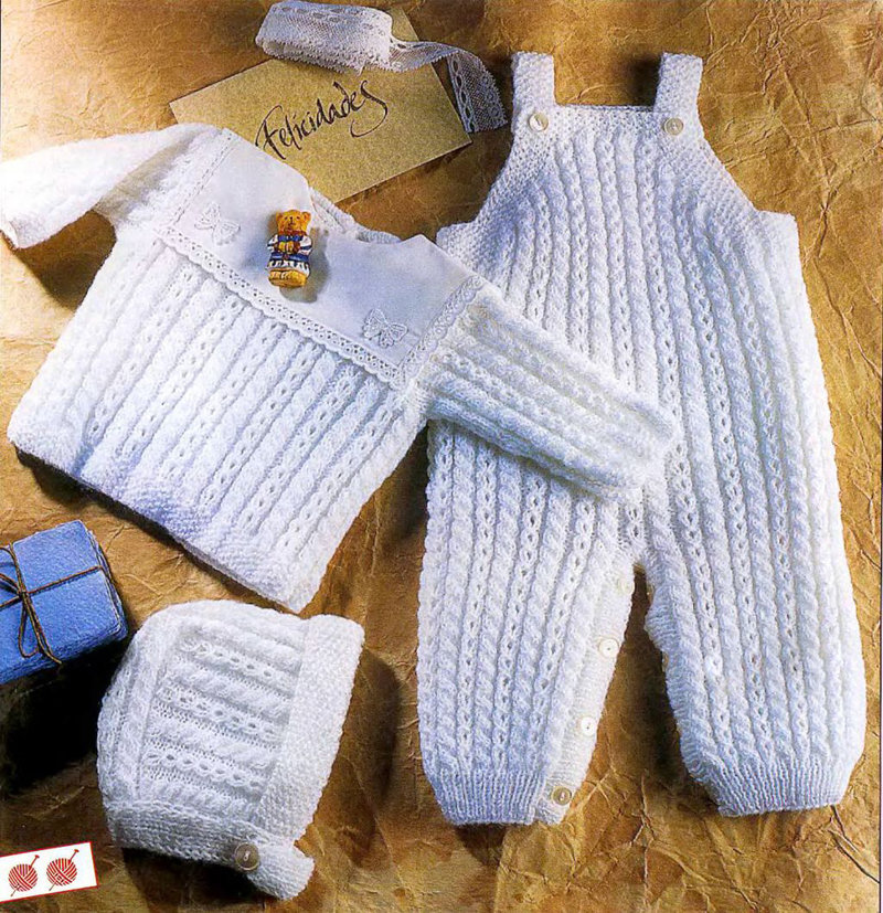 Вязание новорожденным ползунки