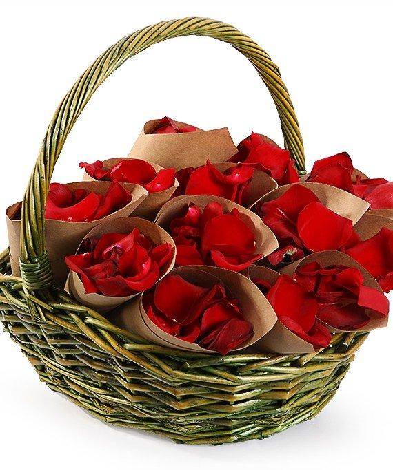 Доставка, букет цветов лепестки