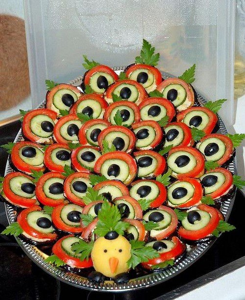 красивая нарезка овощная фото