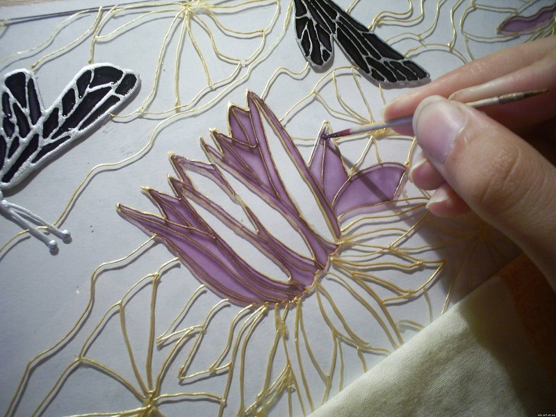мастер-класс по рисованию мандалы на стекле