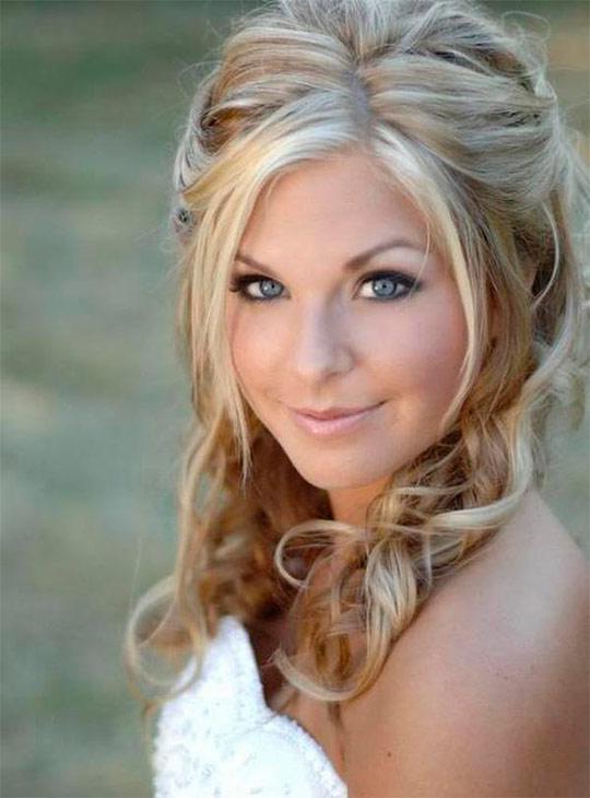 Прическа на светлых средних волосах фото