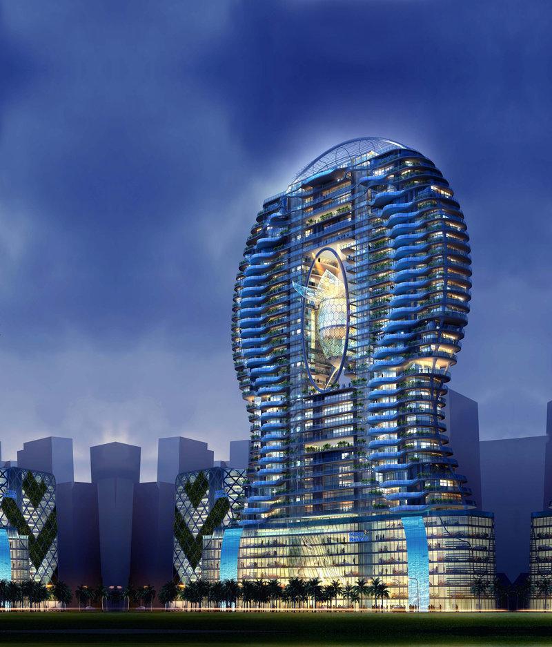 Вертикальный бассейн - Здания высоких технологий - Инженерные системы - Электронный журнал Уникальное жилое высотное здание Bandra Ohm в Мумбаи (Индия) будет возведено по проекту архитектурного бюро James Law Cybertecture International. Главной особен