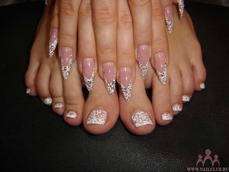 фото ногтей прозрачный дизайн