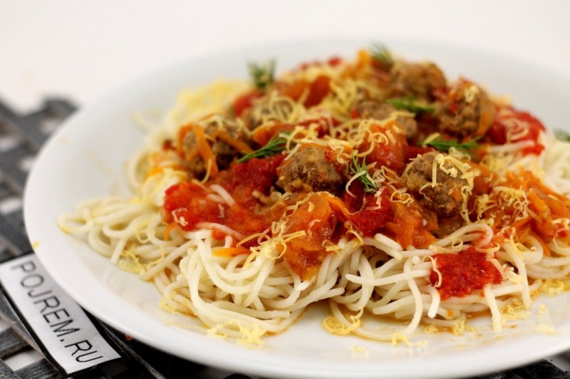 Спагетти с фрикадельками рецепт с фото