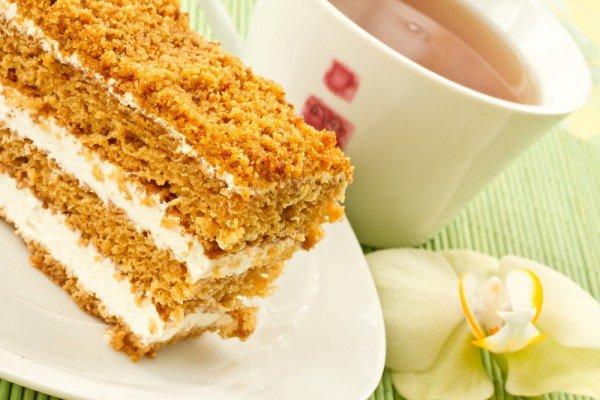 Крем медового торта фото