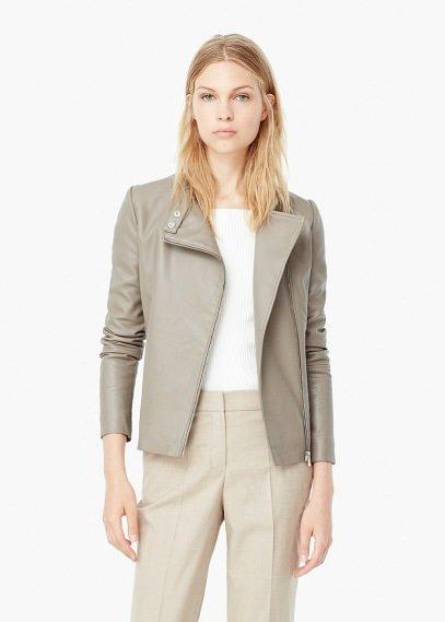 Байкерская куртка с молниями | MANGO