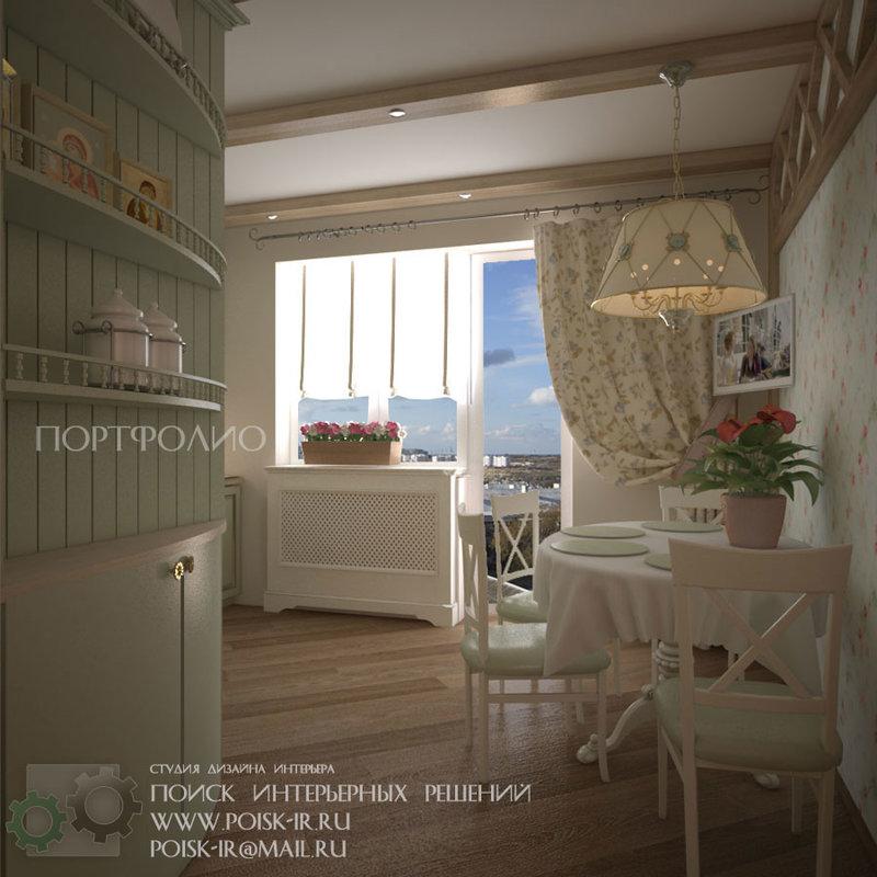 Дизайн интерьера кухни в стиле Прованс - Портфолио дизайн - Поиск  интерьерных решений
