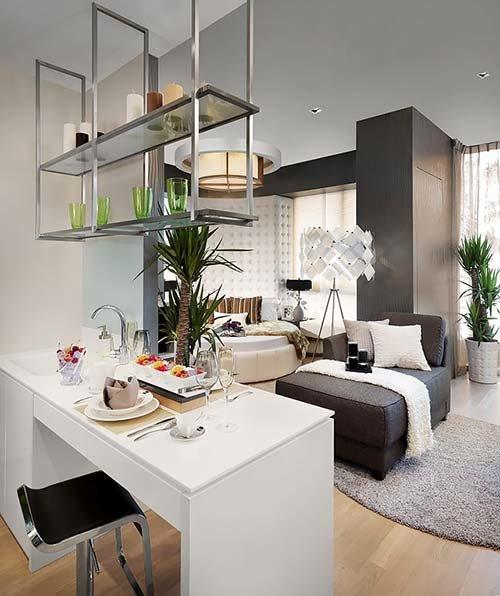 Дизайн интерьера однокомнатных квартир и студий, идеи на 29 фото