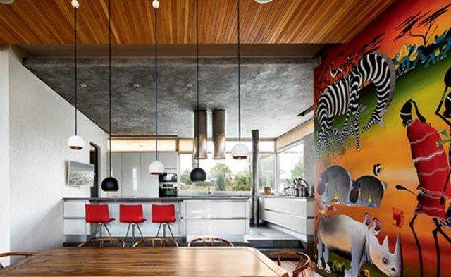 Дизайн кухни в африканским стиле