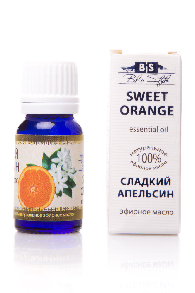 Эфирные масла :: Чистые эфирные масла :: Эфирное масло Апельсин сладкий (Sweet Orange Esential Oil), 10 мл -