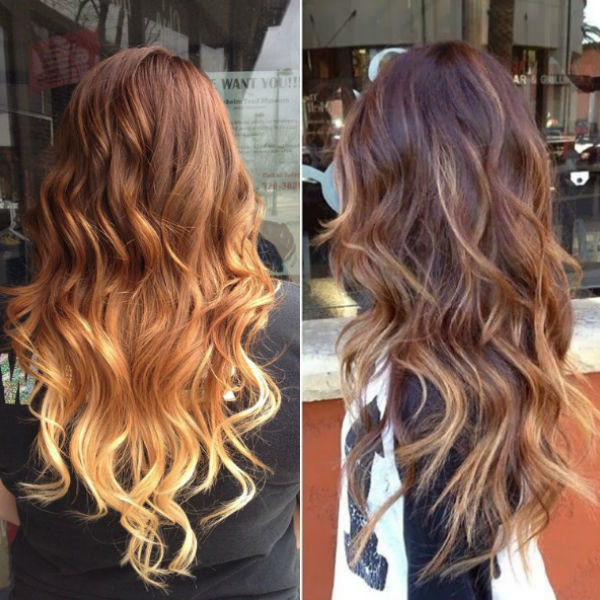 Golden Brown Ombre Hair With Caramel Highlight Fashion Street