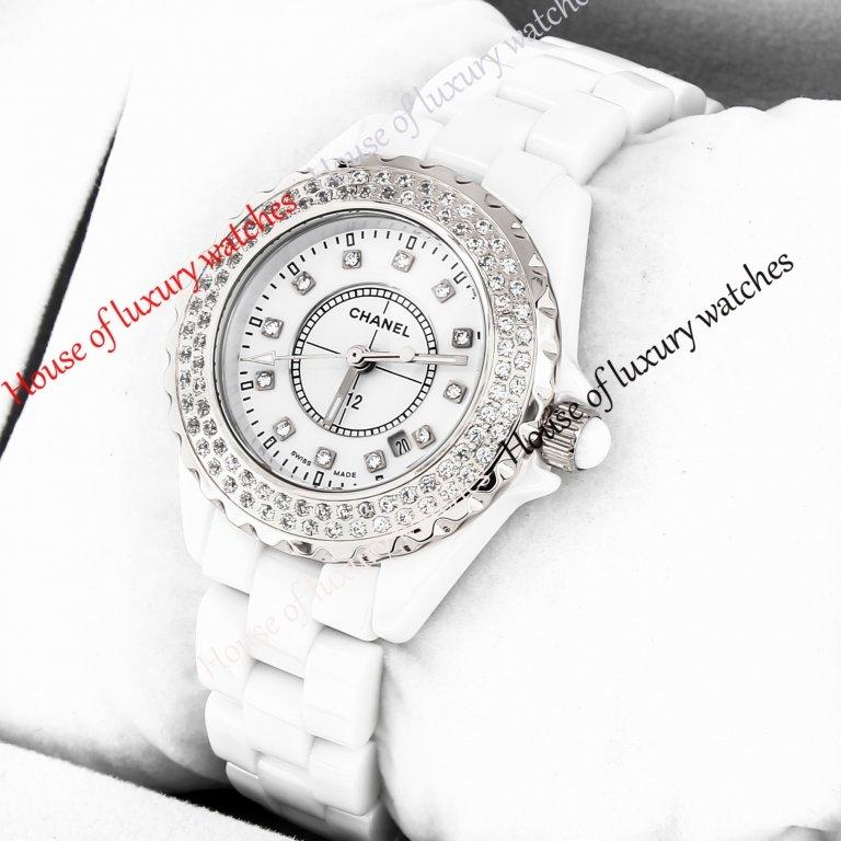 Копия часов Chanel J12 White Ceramic (серебряные). Купить реплику часов Шанель J12 White Ceramic (серебряные), цена  - housewatches.ru