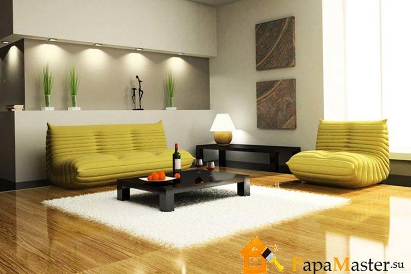 Мягкая мебель для гостиной с фото примерами современного оформления интерьера | Папа мастер!