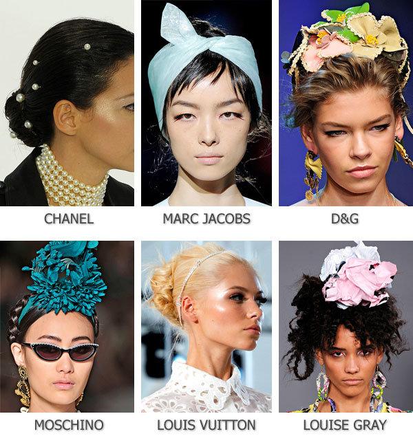 Модные аксессуары для волос Весна Лето 2012