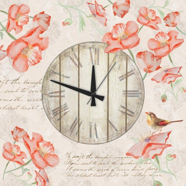"""Настенные часы : Настенные часы """"Маки"""""""