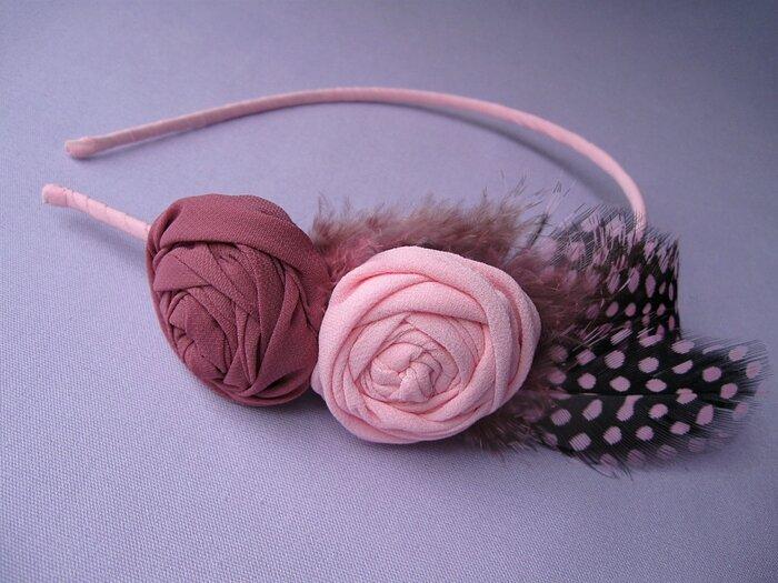 Ободки для волос с розами. Обсуждение на LiveInternet - Российский Сервис Онлайн-Дневников