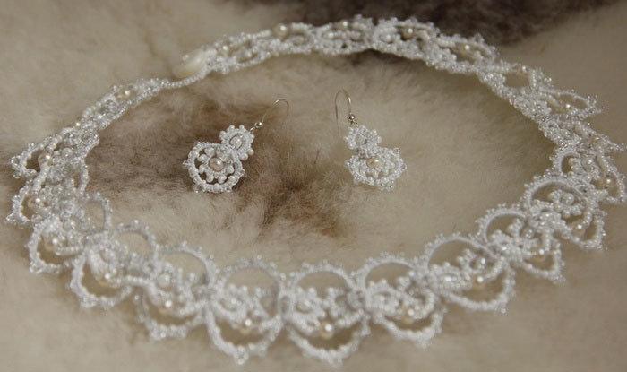 Очаровательное ожерелье на свадьбу с бусинами