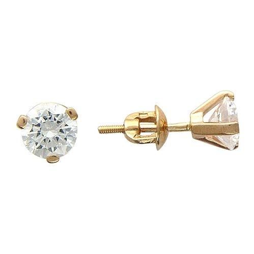 Ослепительные серьги c фианитами из красного золота 585 пробы - купить в интернет магазине Zoloto-na-Zakaz.ru от 8 700 руб.