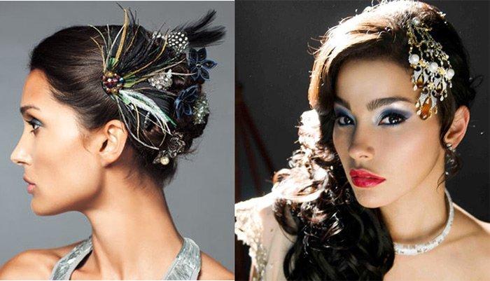 Праздничные украшения для волос фото